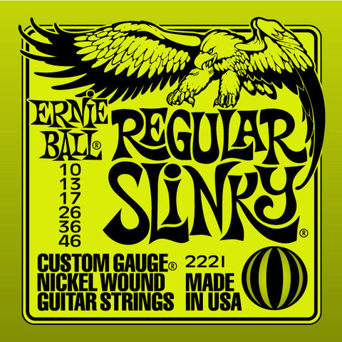 Ernie Ball Regular Slinky 2221 Nickel Guitar Strings 10-46 - Worcester Guitar Centre Guitar Shop