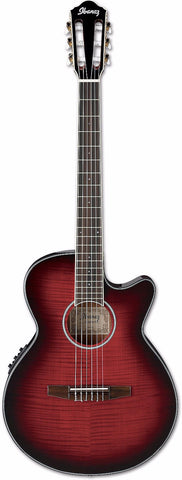 Ibanez AEG24NII Classical Electro Acoustic Guitar Red Sunburst - Worcester Guitar Centre Guitar Shop