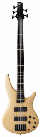 Ibanez SR605-NTF 5 String Bass Guitar Natural Flat - Worcester Guitar Centre Guitar Shop