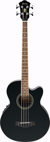 Ibanez AEB8E Electro Acoustic Bass Guitar Black - Worcester Guitar Centre Guitar Shop
