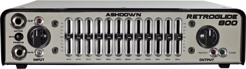 Ashdown Retroglide-800 12 Channel Bass Amp Head - Worcester Guitar Centre Guitar Shop