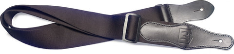 James Neligan Premium Cotton Guitar Strap Black