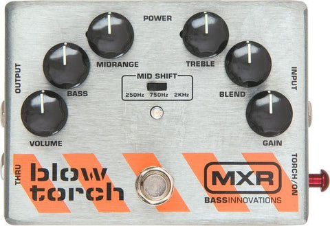 MXR M181 Blow Torch Distortion Bass Effects Pedal - Worcester Guitar Centre Guitar Shop