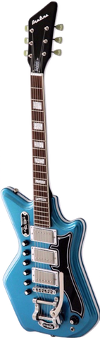 Airline 59 Custom 3P DLX Electric Guitar G. Love Signature Black / Blue - Worcester Guitar Centre Guitar Shop