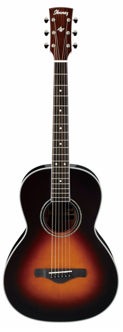 Ibanez AVN1-BS Parlour Acoustic Guitar Brown Sunburst - Worcester Guitar Centre Guitar Shop - 1