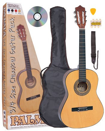 Palma 3/4 Size Acoustic Guitar Package Natural - Worcester Guitar Centre Guitar Shop