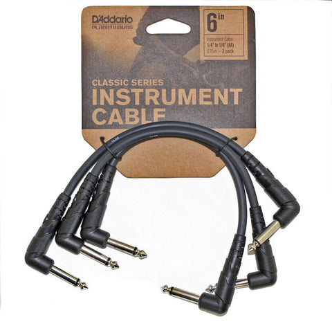 D'Addario Classic Series 6in Instrument Cable