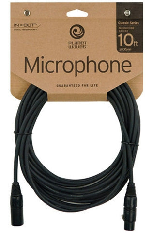 Planet Waves Classic Series 10ft XLR/XLR Microphone Cable - Worcester Guitar Centre Guitar Shop