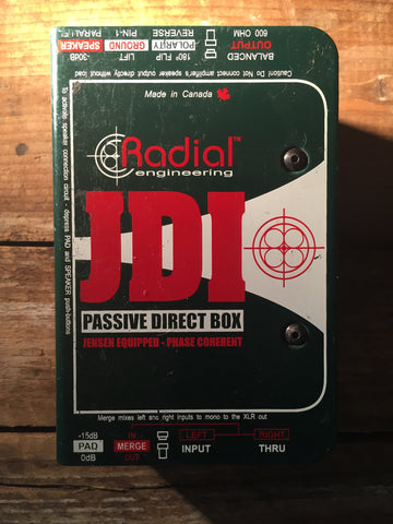 Radial JDI Passive Direct Box Pre-Used - Worcester Guitar Centre Guitar Shop