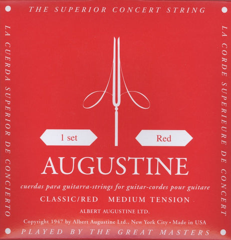 Augustine Red Classical Guitar Strings Set 29-45 - Worcester Guitar Centre Guitar Shop