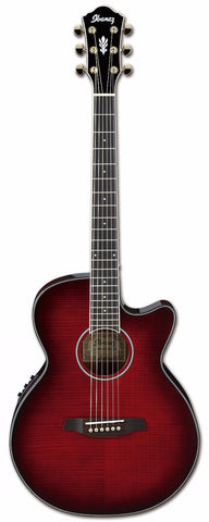 Ibanez AEG24II Electro Acoustic Guitar Trans Hibiscus Red - Worcester Guitar Centre Guitar Shop