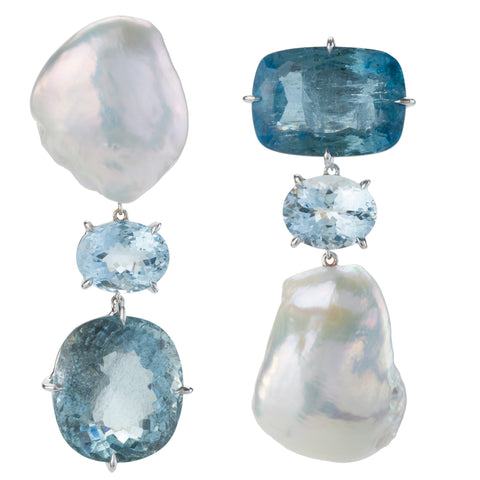 FLIP III aquamarine earrings