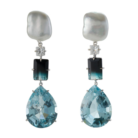 FLAPPER IV aquamarine earrings
