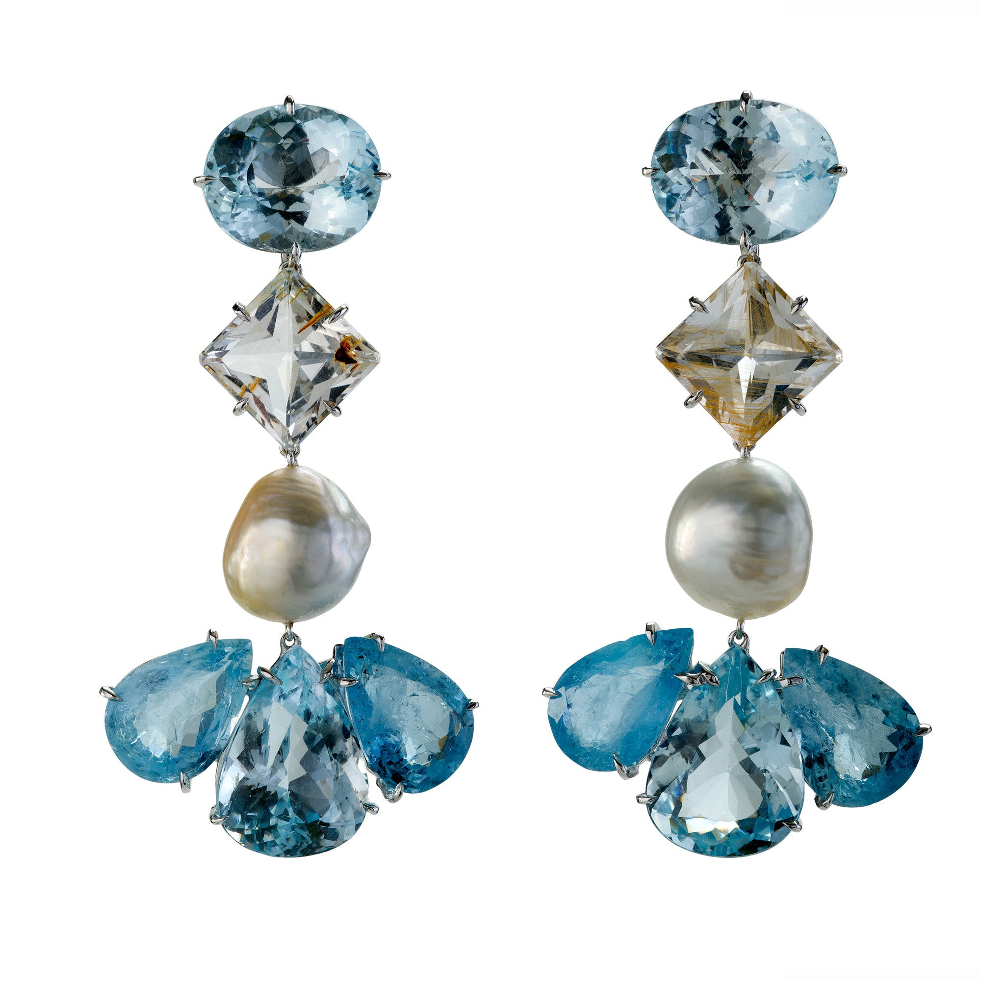DUSTER VI aquamarine earrings