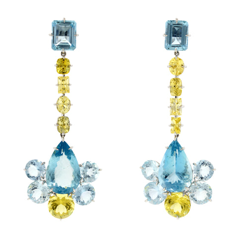 Flapper xi aquamarine earrings