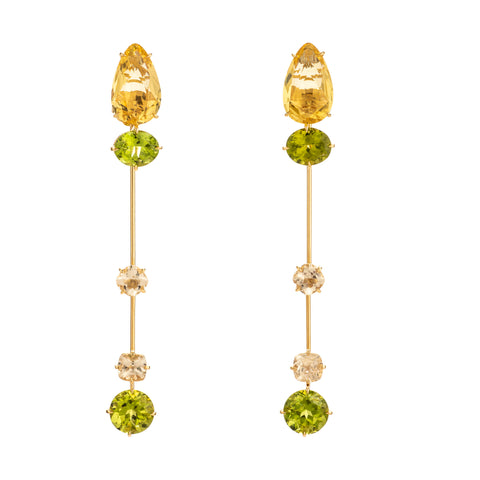 Avatar V peridot beryl earrings
