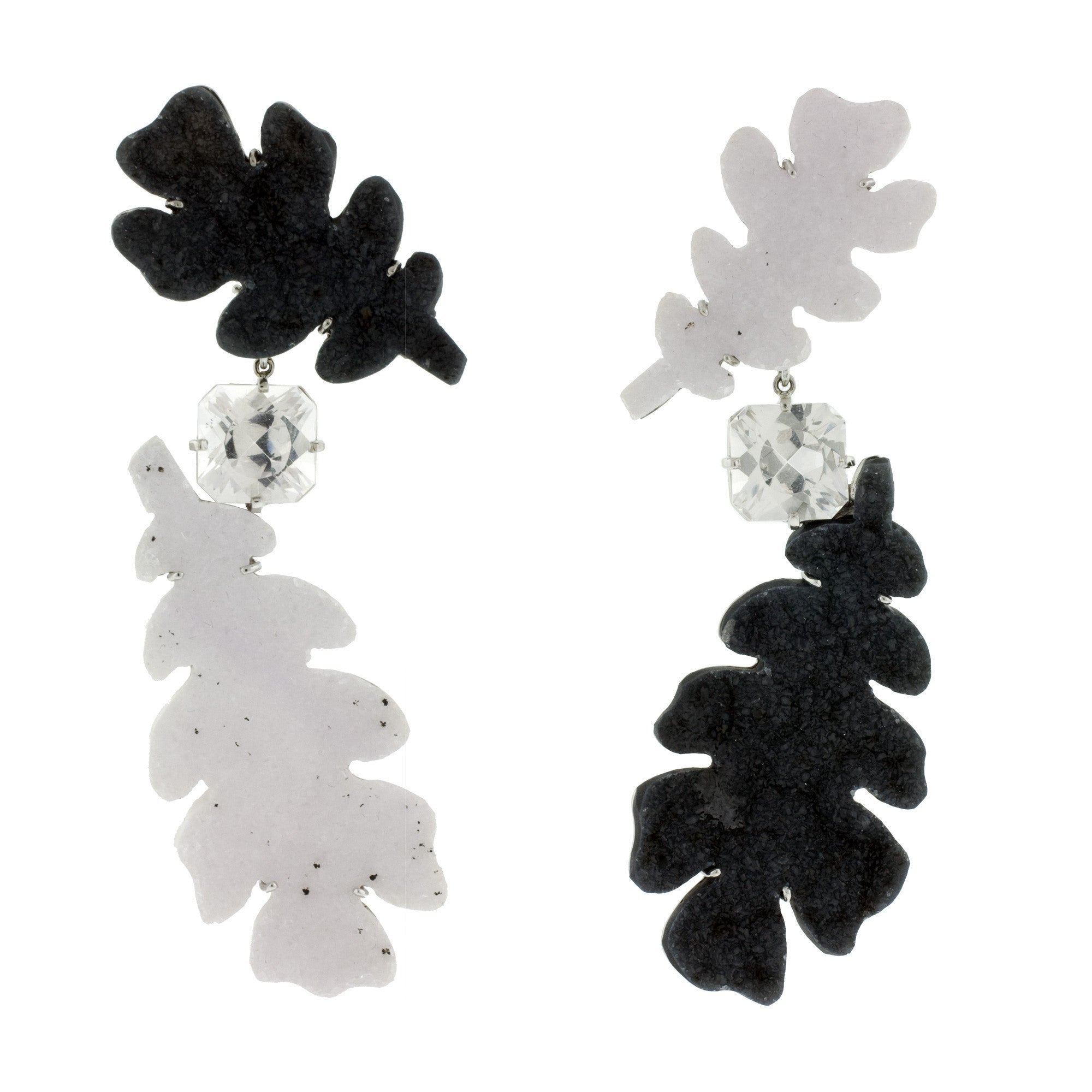 OAK III druze agate danburite earrings