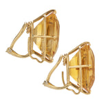 gold i citrine earrings