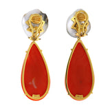 Aphrodite ii coral earrings