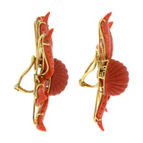 Petal VI coral earrings