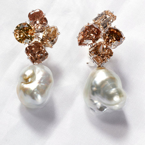 ROCKSTAR V diamond earrings