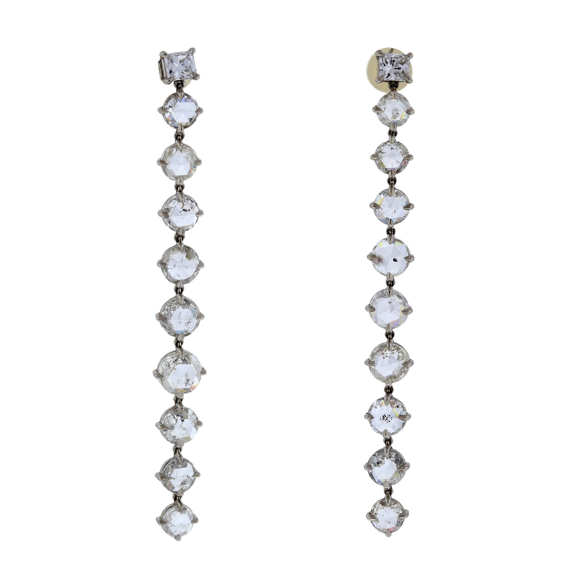 Droplet X diamond earrings