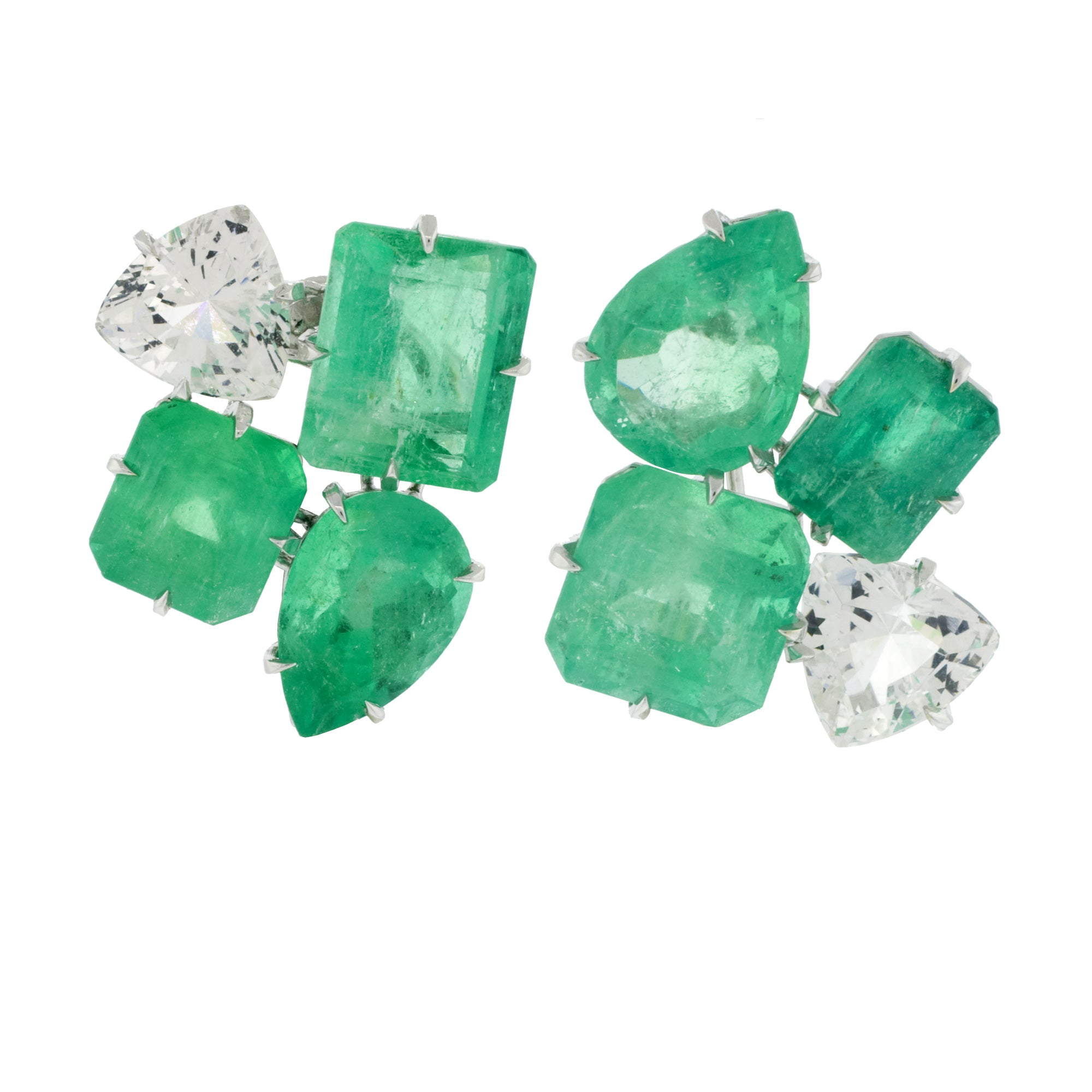 cluster iv emerald danburite earrings
