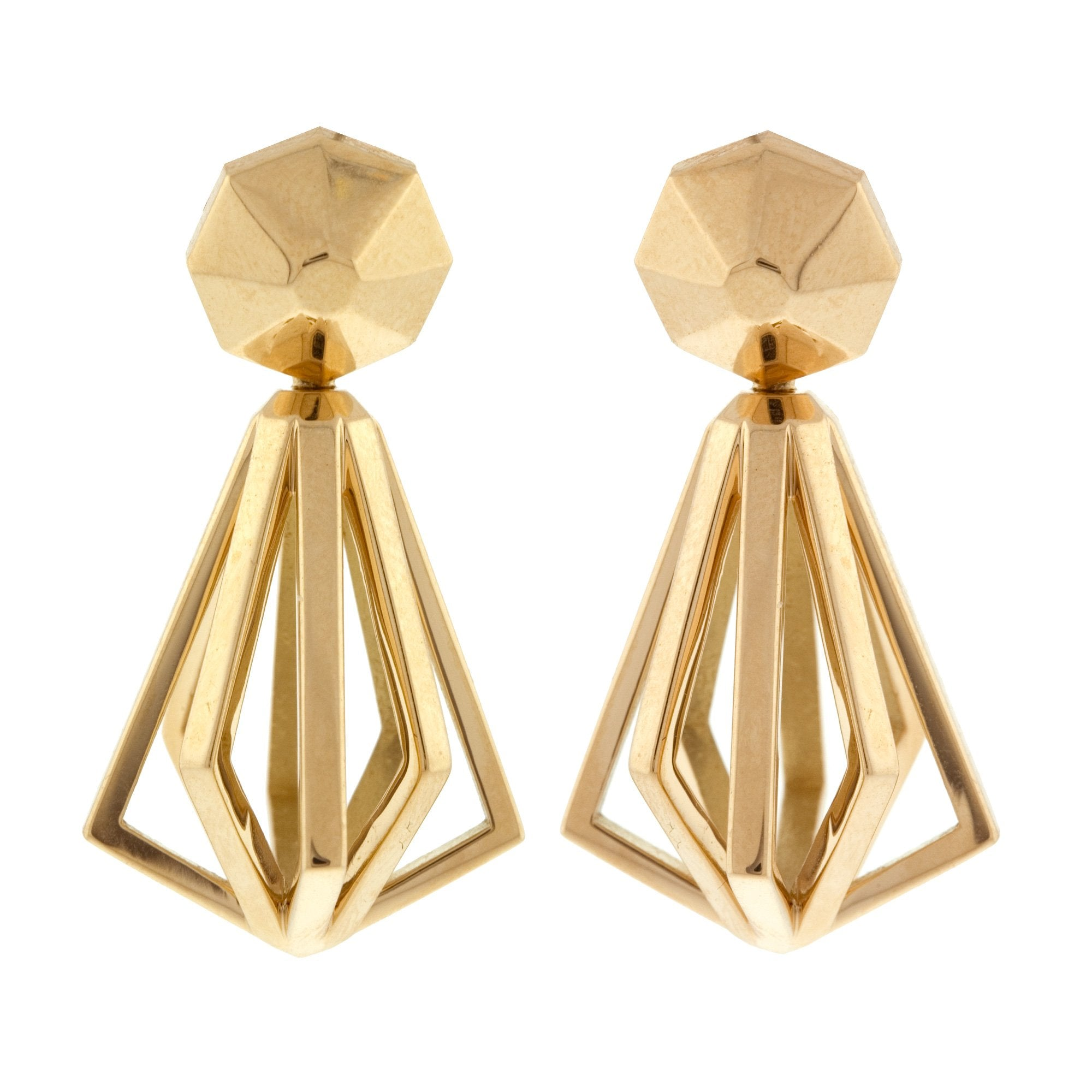Pinwheel ii gold earrings