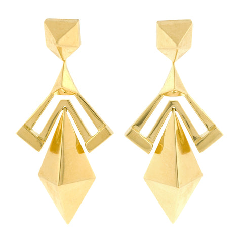 Bow gold earring