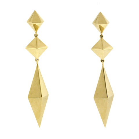 Spire iii gold earrings