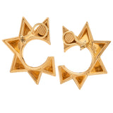 Twisted crown vi gold earrings