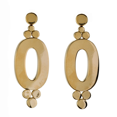 OVAL gold earring