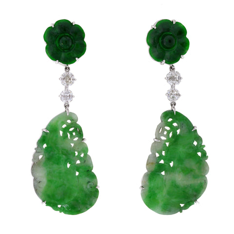 TIGER IV jade earrings