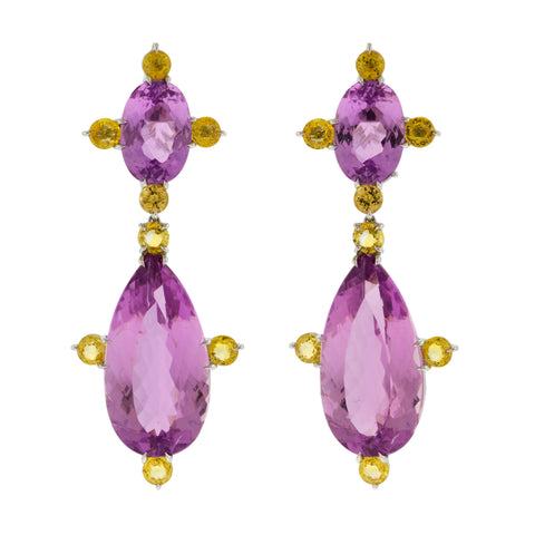 CALI X kunzite earrings