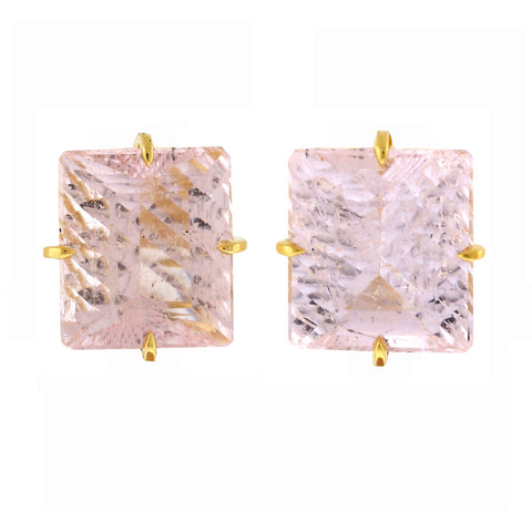 Shimmer i morganite earrings