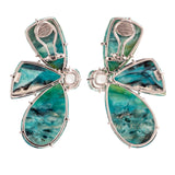 burst iv opal earrings