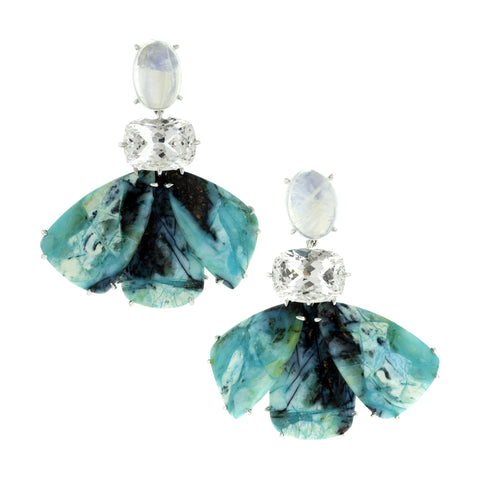 dragonfly v opal earrings