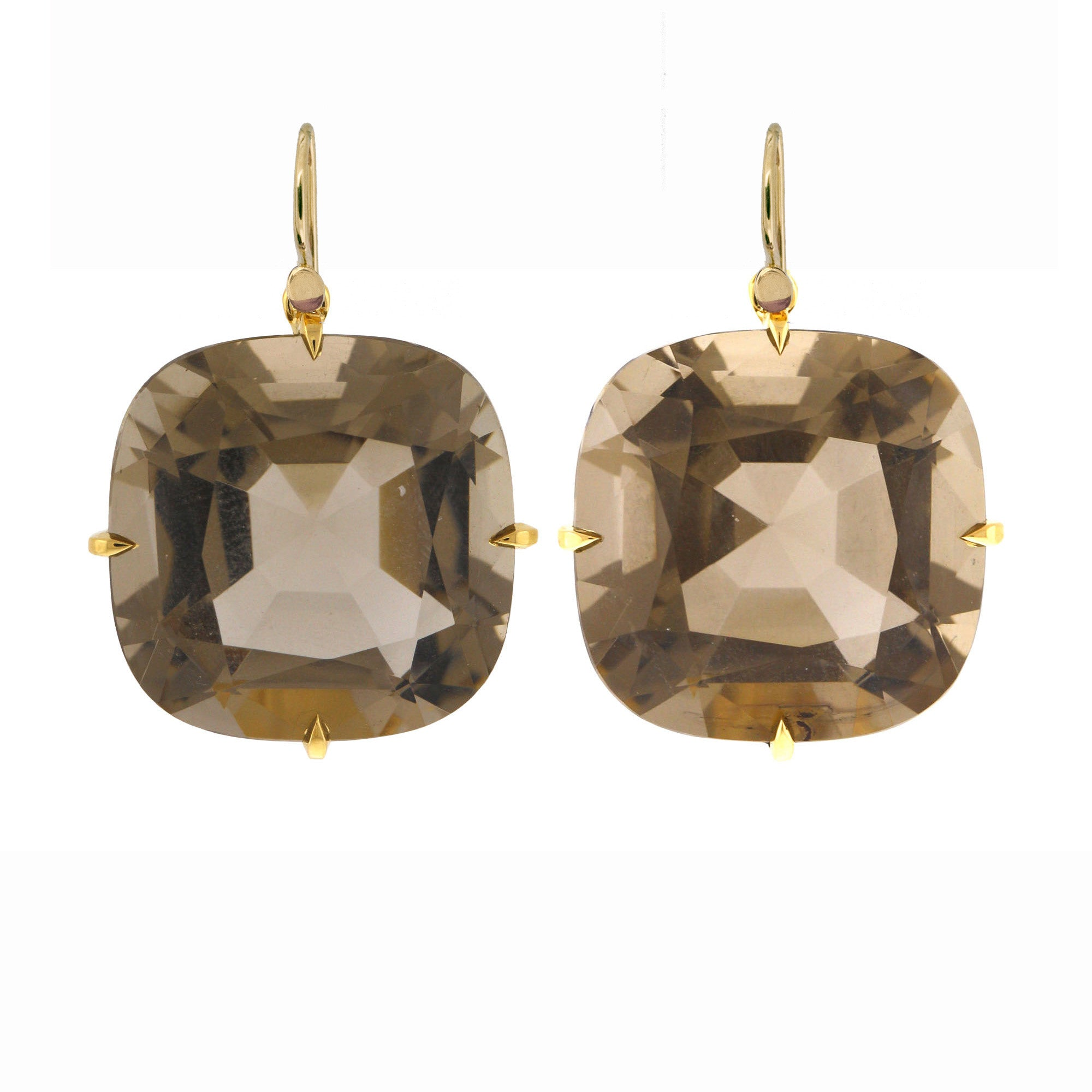 Sable i quartz earrings