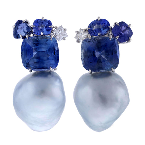 Sri Lanka V sapphire earrings