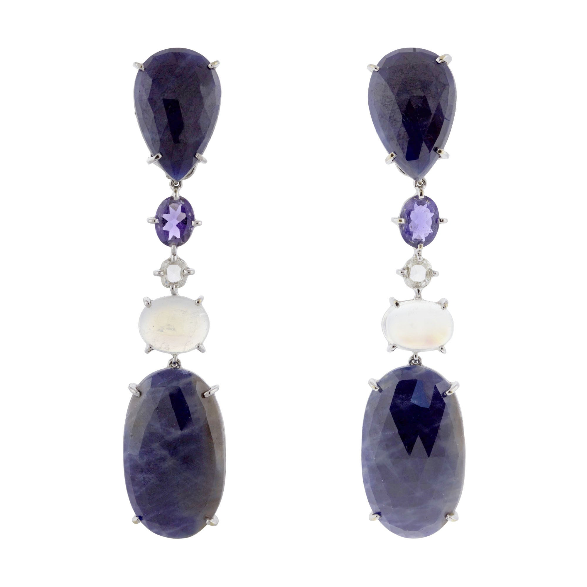 BOLLYWOOD V sapphire earrings