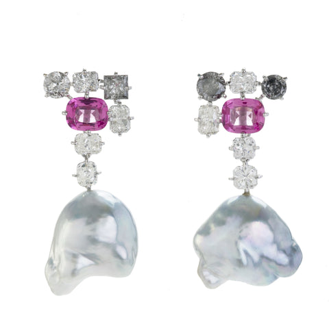 SPINEL VIII pearl earrings
