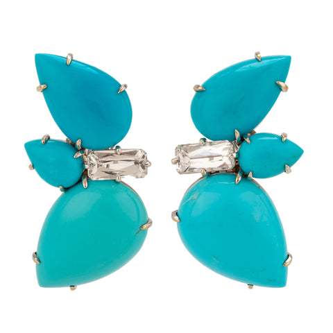 Sleeping iv turquoise earrings