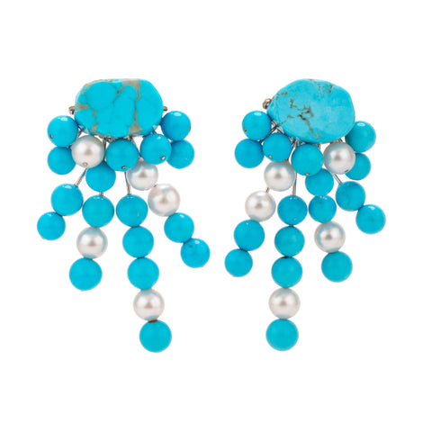 Spray XXIII turquoise earrings