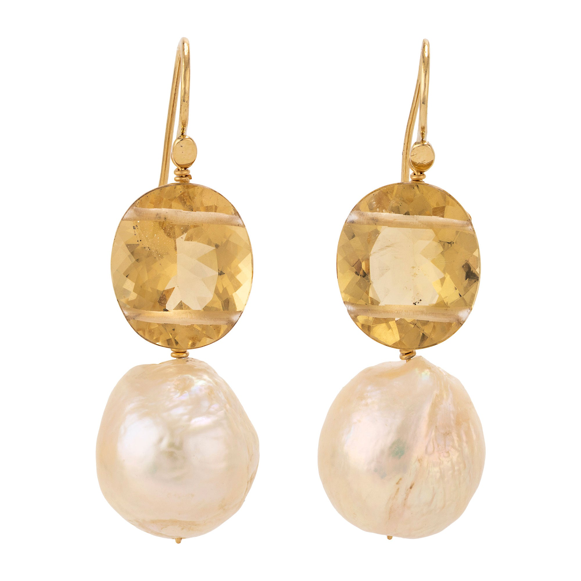 Fresh II Pearl beryl earrings