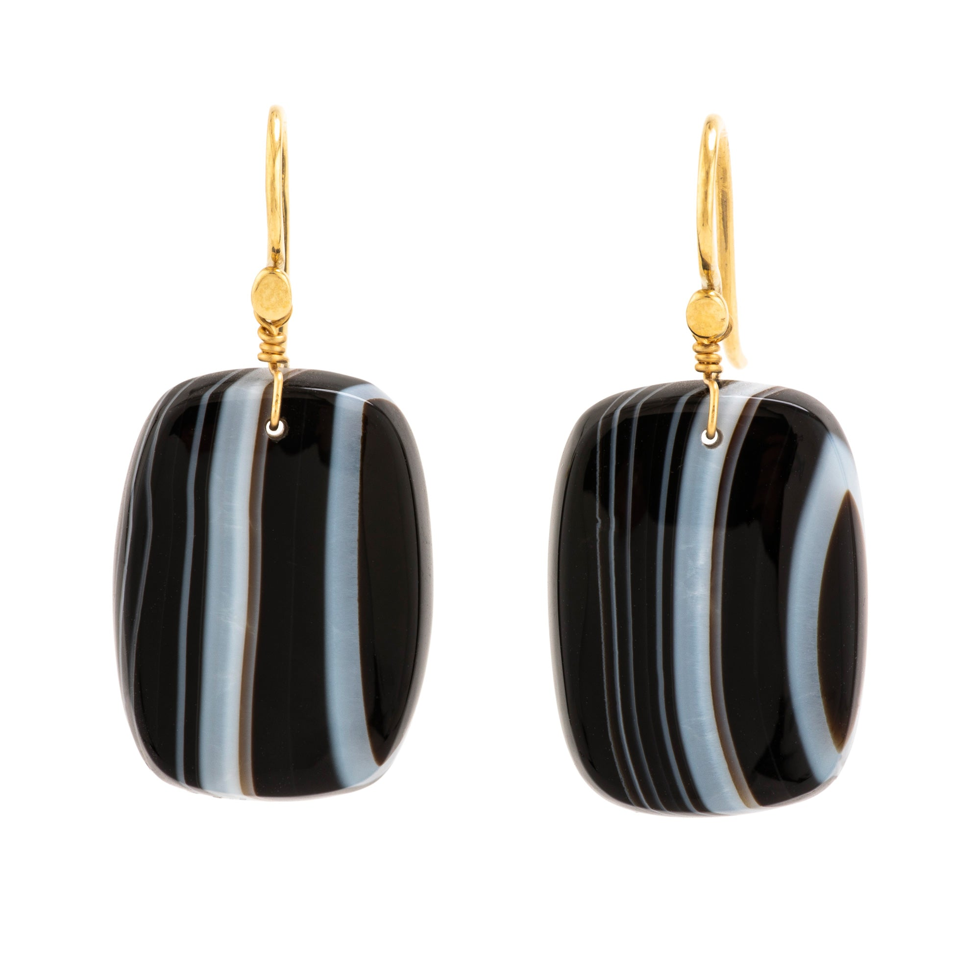 STRIPE I agate earrings