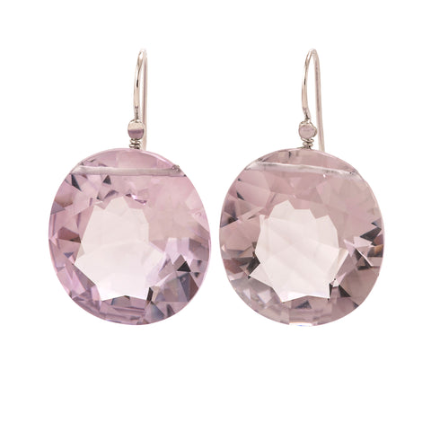 OVAL I amethyst earrings