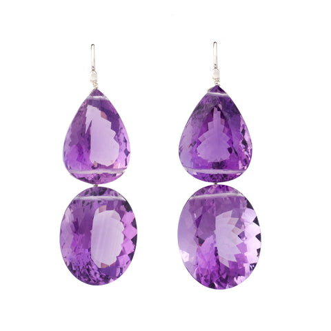 ROCKSTAR II Amethyst Earrings