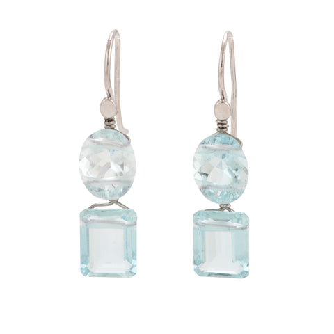 Glimmer ii aquamarine earrings