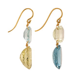 SPRING II aquamarine earrings