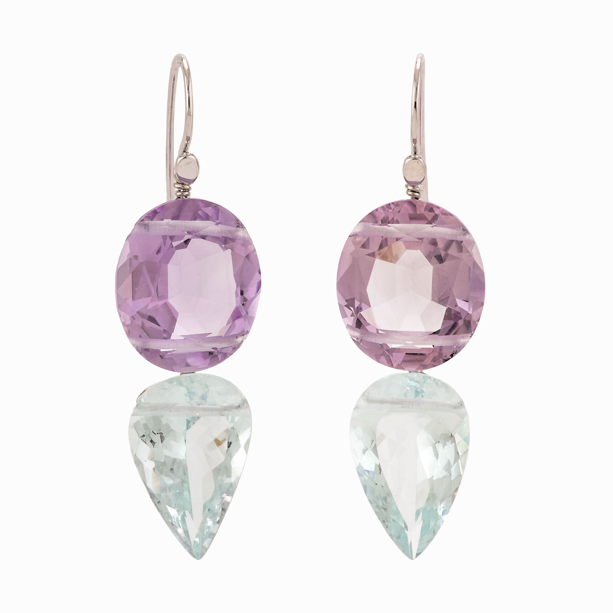 Regal II aquamarine earrings